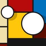 在颜色的网络设计泡影 免版税库存图片
