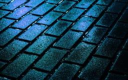 在颜色的街道砖 免版税图库摄影