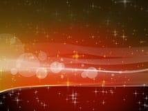 在颜色背景的发光的星 库存照片