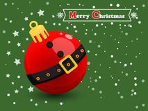 在颜色背景的圣诞节球 新年快乐和decorat 库存照片