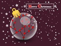 在颜色背景的圣诞节球 新年快乐和decorat 图库摄影