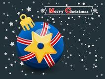 在颜色背景的圣诞节球 新年快乐和decorat 免版税库存图片