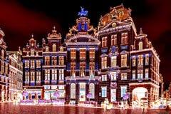 在颜色阴性的看法与布鲁塞尔协会的门面,是 库存图片