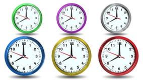 在颜色,动画的时钟 股票视频