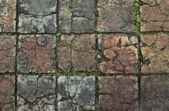 在颜色,越南的老石路面 免版税库存照片