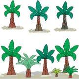 在风景的棕榈与石头 免版税库存图片