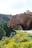 在风景高速公路12的五颜六色的曲拱 库存照片