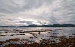 在风暴的fyne海湾 库存图片