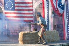 在风滚草节日期间的戏剧性介绍 免版税库存照片