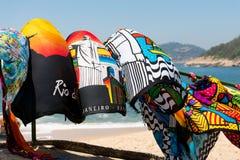在风的巴西海滩围巾 库存图片
