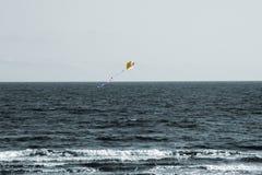 在风的风筝 免版税库存图片