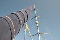 在风船的无风天 免版税库存图片