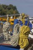 在风船的绳索 库存图片