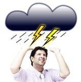 在风暴下的人 库存图片