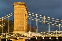 在风暴之前的桥梁 免版税库存图片