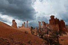 在风暴之前的Bryce峡谷 库存图片