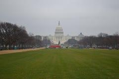 在风暴前的Capitolium 库存照片