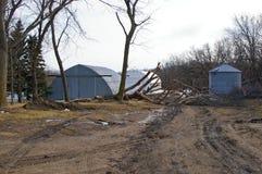 在风暴以后的一个农场 免版税图库摄影