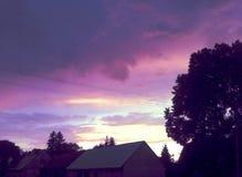 在风暴以后的天空 库存图片