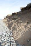 在风暴以后的损坏的沙丘 库存图片