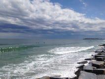 在风暴以后的海洋 免版税库存照片
