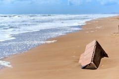 在风暴以后的Babilonia海滩 图库摄影