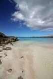 在风暴以后的Balthos海滩,刘易斯苏格兰小岛  免版税库存图片