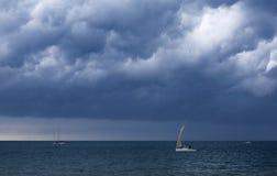 在风暴期间的海 库存图片