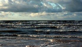 在风暴期间的海 库存照片