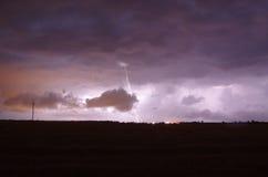 在风暴期间的闪电 免版税图库摄影
