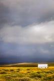 在风暴的农场 库存照片