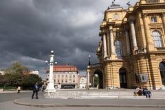 在风暴的城市 库存照片