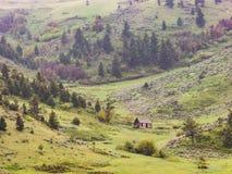 在风暴的豪华的山山麓小丘 免版税库存图片