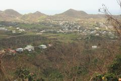 在飓风玛丽亚林孔波多黎各2017年9月以后 免版税库存图片