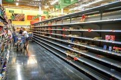 在飓风艾琳前的迈阿密 免版税库存照片