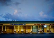 在飓风艾琳前的迈阿密 库存照片