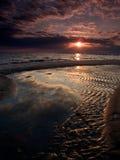 在飓风以后的墨西哥湾海岸海滩 免版税库存图片