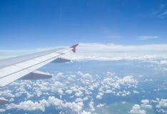 在飞机上的风景 免版税库存照片