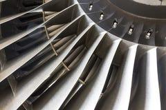 在飞机引擎的刀片 图库摄影