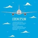 在飞机的商业飞行 免版税库存图片