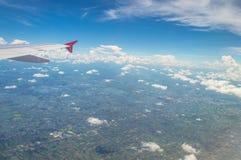 在飞机的外部看法 库存照片