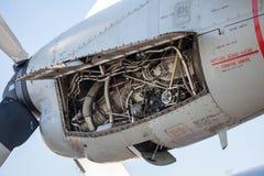 在飞机的引擎 库存图片