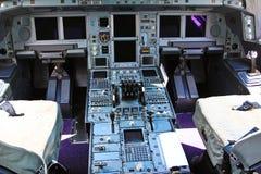 在飞机的控制架 库存图片
