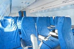 在飞机的椅子 免版税库存图片