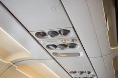 在飞机的舒适 库存照片