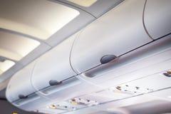 在飞机的行李舱 免版税库存图片