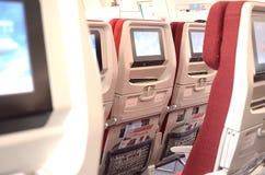在飞机的Chais,显示器 免版税库存图片