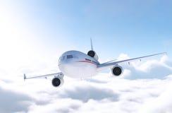 在飞行中商业班机 免版税库存图片
