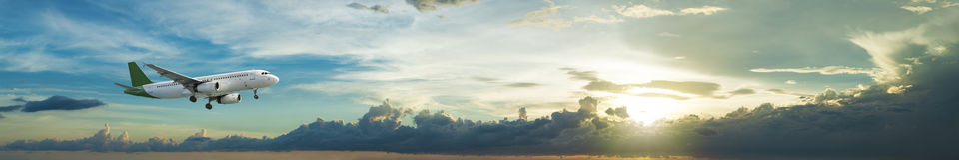 在飞行中喷气机 图库摄影