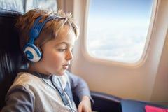 在飞行中娱乐 免版税库存图片